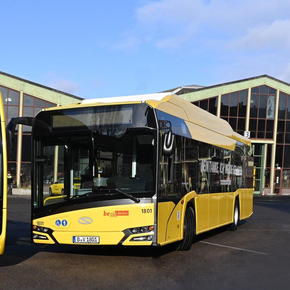 První z nových elektrobusů značky Solaris. (foto: BVG)