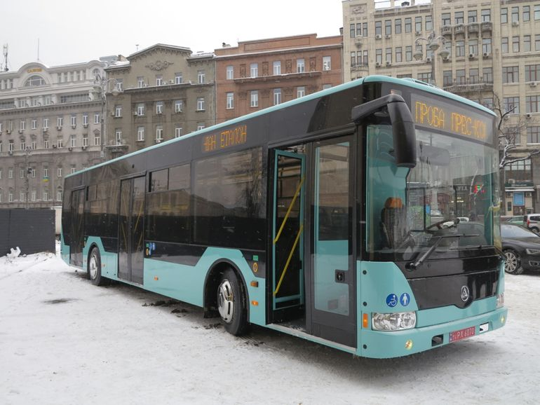Nový autobus Astra od Etalonu (A12210). (zdroj: news.ua)