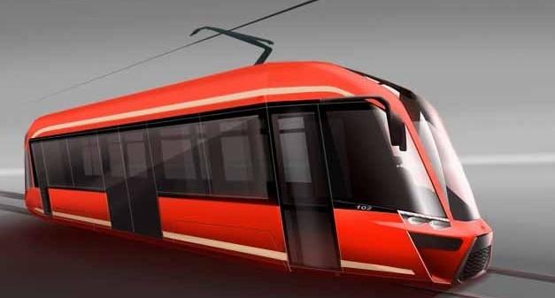 Tramvaje pro Tramwaje Śląskie mají mít téměř 50% podíl nízké podlahy a designově vycházet z modelu Moderus Gamma. (foto: Modertrans)