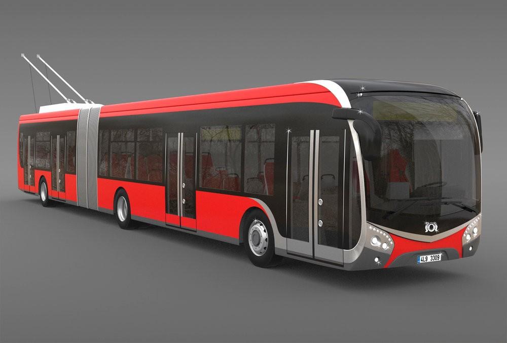 Vizualizace trolejbusu SOR na bázi nové řady NS. (zdroj: SOR)