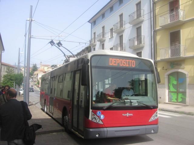 Trolejbus v Avellinu v roce 2016. (foto: Irpinia 24)