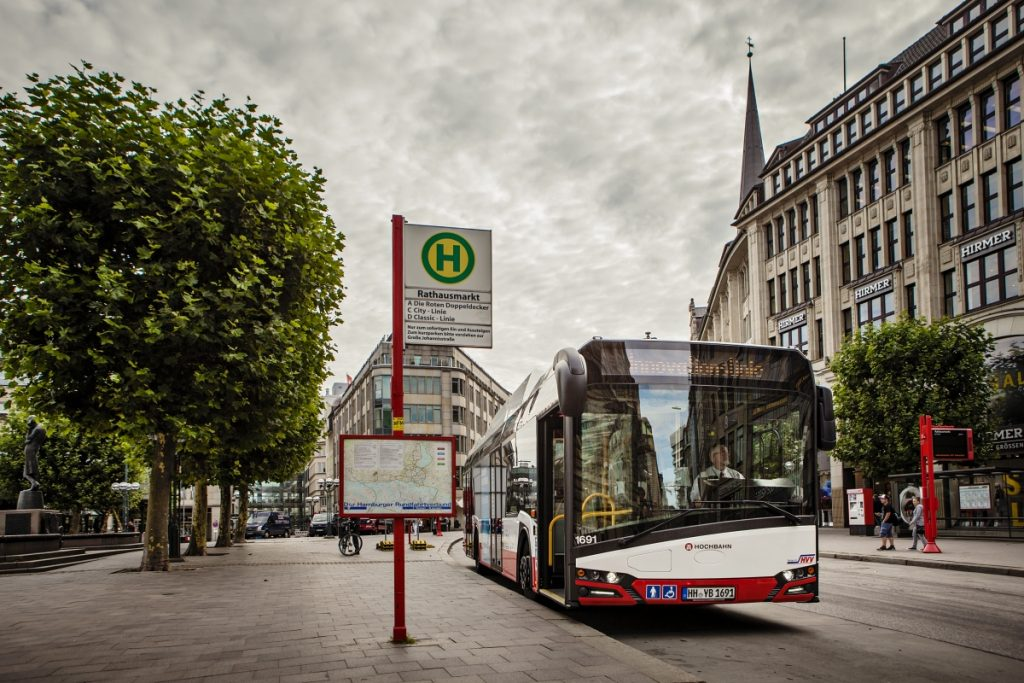 Elektrobus Solaris Urbino 12 electric v Hamburku. (foto: Solaris Bus & Coach)