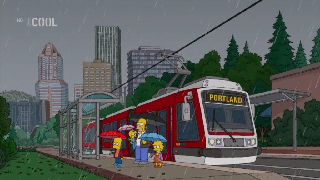 Česká tramvaj Škoda 10T je výsledkem spolupráce Inekonu a Škodovky. Přestože bylo do USA dodáno jen 10 těchto vozů, objevil se nyní jeden z nich v seriálu Simpsonovi. (zdroj: Seriál Simpsonovi, z vysílání FTV Prima)