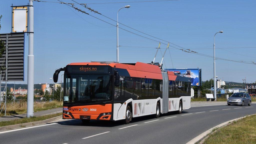 Trolejbus Solaris Trollino 18 pro Bergen během zkoušek v Plzni. (foto: Ing. Zdeněk Kresa)