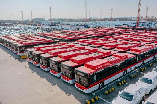 Flotila elektrobusů Yutong pro norský  Bergen. Podobná fotka s italskými vozy ale nevznikne. (foto: Yutong)