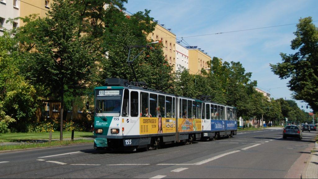 Tramvaje KT4DC v Postupimi tvoří stále důležitou součást flotily vozového parku tramvají, jejich čas se ale krátí. (foto: Libor Hinčica)