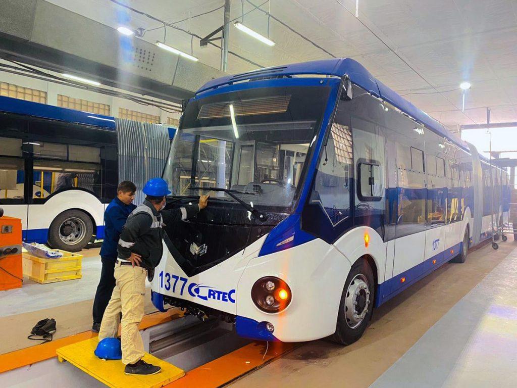 Trolejbus od Belkommunmaše. (zdroj: město Kišiněv)