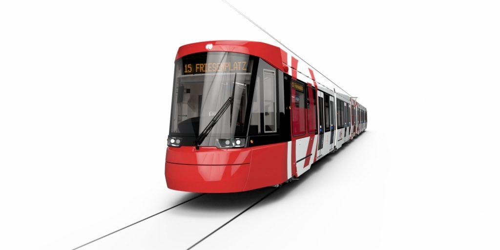 První vizualizace vzhledu nových tramvají pro Kolín nad Rýnem. (foto: Alstom)