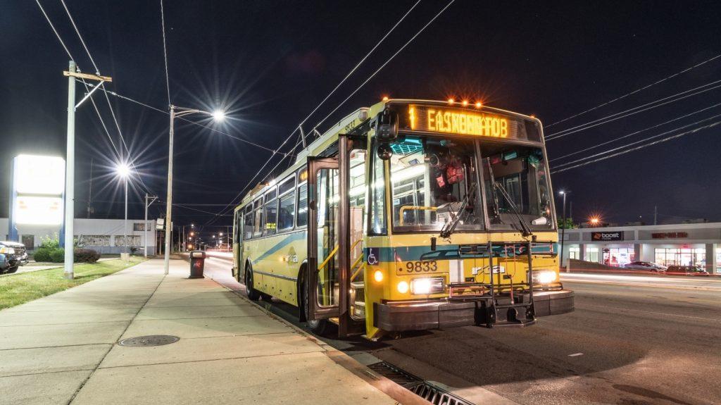 Trolejbusů Škoda 14 TrE bylo do USA předáno celkem 57. První tři prototypy se od sériových vozů značně odlišovaly. (foto: Honza Tran)