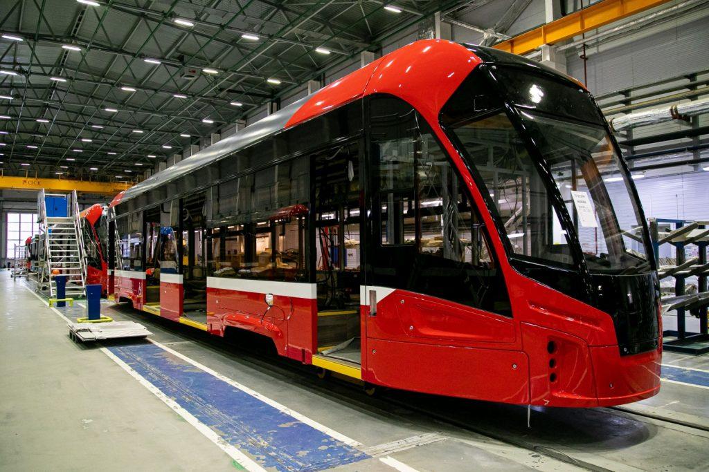 """Nová tramvaj pro Iževsk. (foto: PK """"TS"""")"""