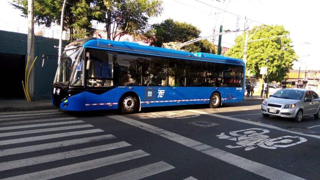 Trolejbus v Cuidad de México v září 2020. (foto: STE)