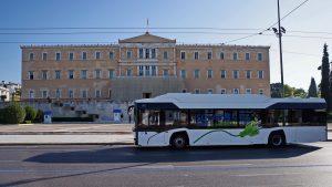 Solaris testuje elektrobus v Athénách