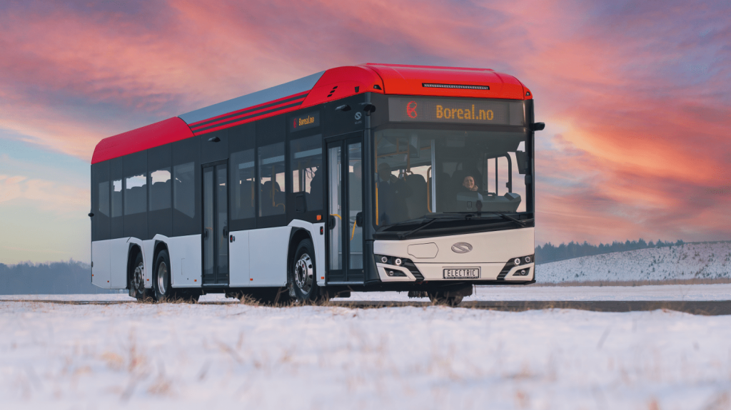 Solaris Urbino 15 LE electric na propagační fotografii výrobce. (foto: Solaris Bus & Coach)