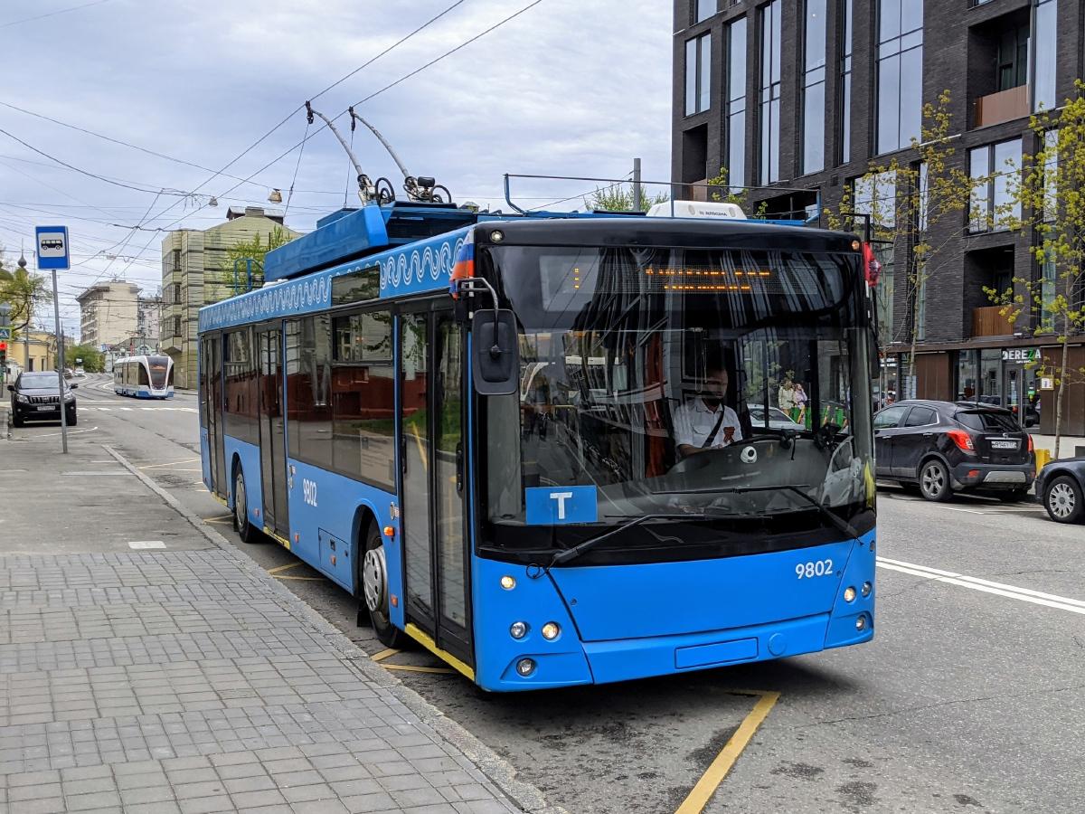 Trolejbus v Moskvě na lince T dne 9. května 2021. (foto: Egor Dolinger)