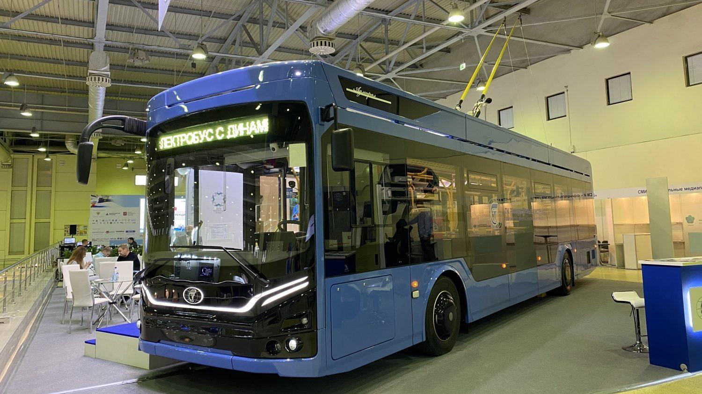 Nový trolejbus je vystavován jako elektrobus s dynamickým nabíjením. (foto: PK TS)