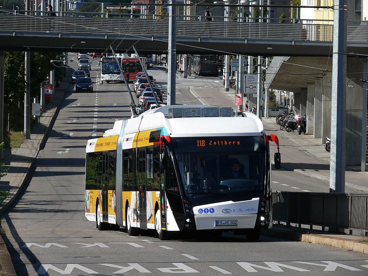 Trolejbus v Esslingenu. (foto: Silesia711/Wikipedia.org)