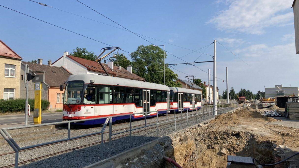 Na návštěvě stavby tramvajové trati v Olomouci