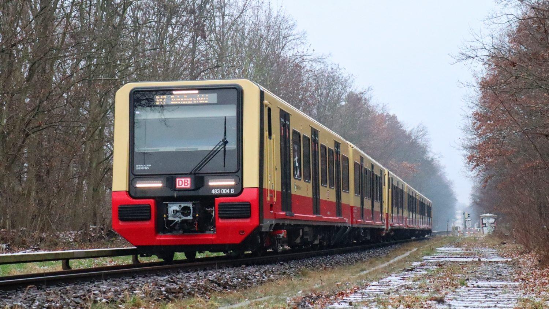 Nové soupravy S-Bahnu na lince S47 v první den provozu s cestujícími. Není bez zajímavosti, že na řadě 483/484 poprvé užité inovované olakování vozů proniká masověji už i na jednotky 481/482, se kterými se vedle Stadlerů počítá jako s jedinými v provozu i po roce 2023. (foto: Mirkone; zdroj: Wikipedia.de)