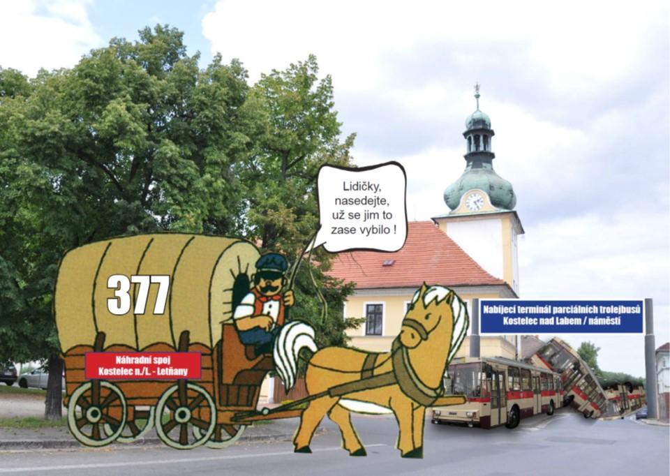 Komentář: Traktory proti trolejbusům do středních Čech