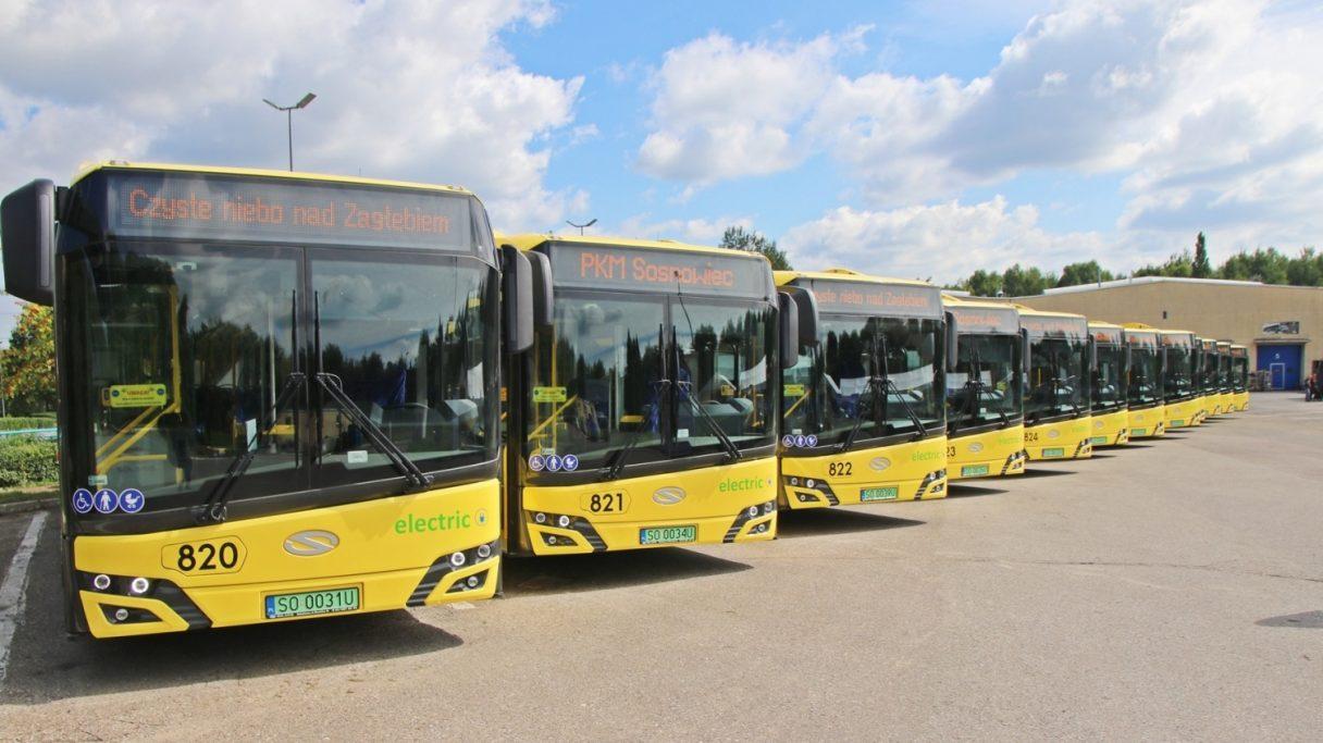 V Sosnowci převzali 14 elektrobusů Solaris Urbino