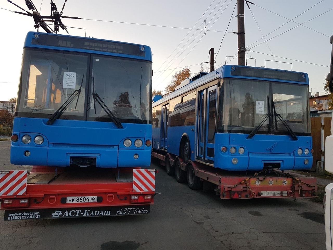 Loni v říjnu přibylo v Petrozavodsku 10 ojetin z Moskvy typu MTrZ-52791 z let 2006–2008. V novém provozu se ovšem většina z nich dosud neobjevila. (foto: radnice Petrozavodsku)