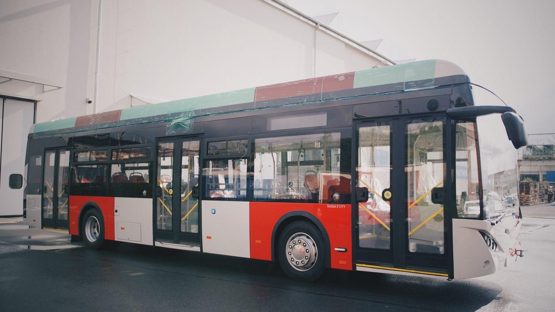 Elektrobus Temsa s elektrickou výzbrojí Škody Electric prodávaný na českém trhu jako model Škoda E'City (36BB). (foto: DPP)